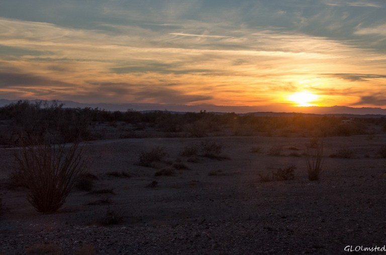 Sunset Ogilby Road BLM California