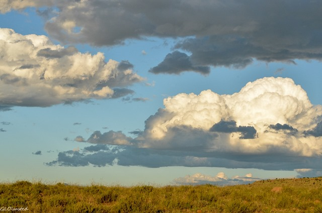 Big clouds over landscape Mountain Zebra National Park South Africa