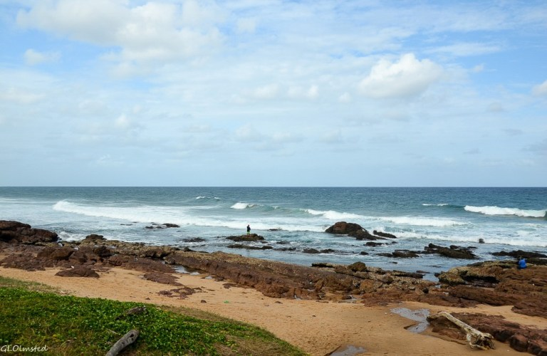 Indian Ocean view from Scottburgh Caravan Park Scottburgh South Africa