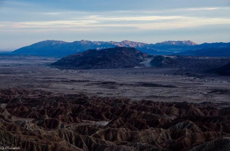 Badlands & beyond from Fonts Pt Anza-Borrego Desert State Park California