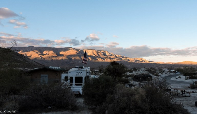 Last light on mts Agua Caliente California