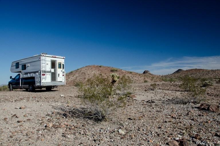 Truck camper Dome Rock Quartzsite Arizona