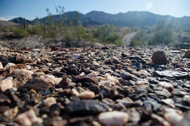 Rocky desert floor Dome Rock Quartzsite Arizona