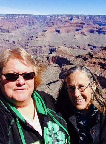 Sandee and Gaelyn at South Rim Grand Canyon National Park Arizona