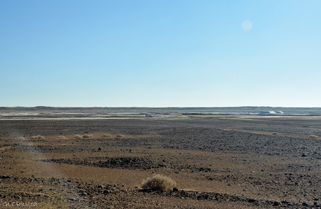 Salt pans near Upington South Africa