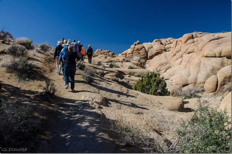 Ranger Pam leads geology tour Joshua Tree National Park California