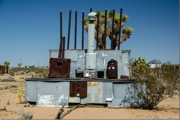 Everything & the kitchen sink Noah Purifoy's Outdoor Desert Art Museum of assemblage sculpture Joshua Tree California