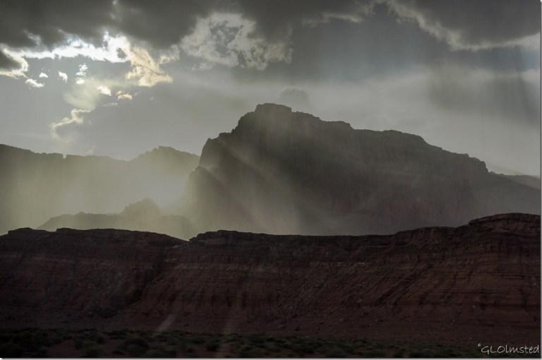 Crepuscular rays Vermilion Cliffs SR89A Arizona