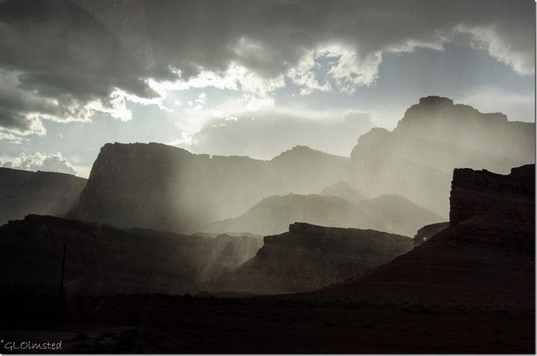 Sun glow on Vermilion Cliffs SR89A Arizona