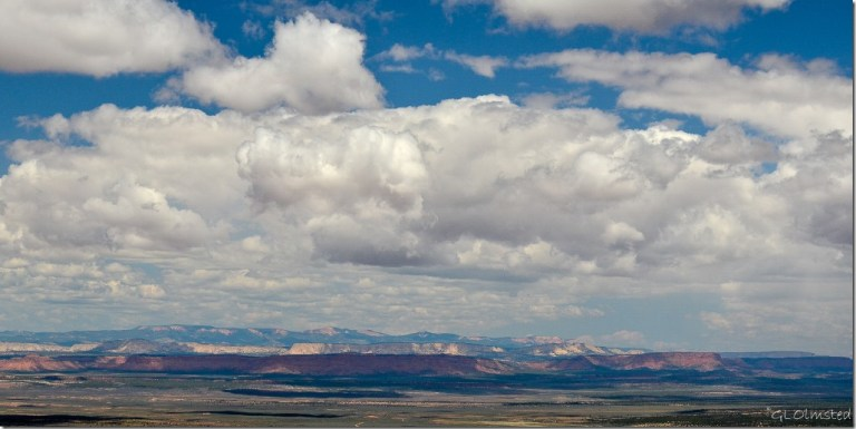 Clouds above Grand Staircase Escalante National Monument from LeFevre overlook SR89A Kaibab National Forest Arizona