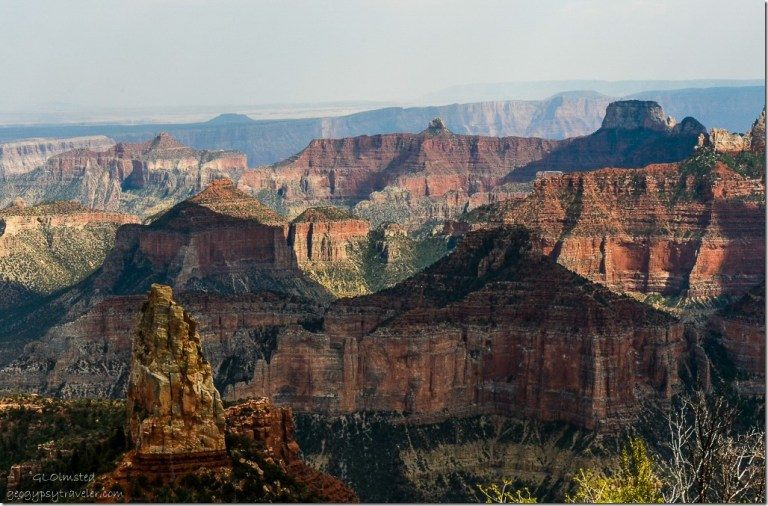Mount Hayden & canyon view from Point Imperial North Rim Grand Canyon National Park Arizona