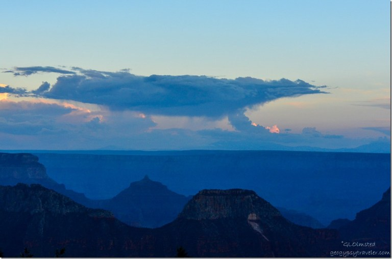 Sunset from Grand Lodge North Rim Grand Canyon National Park Arizona