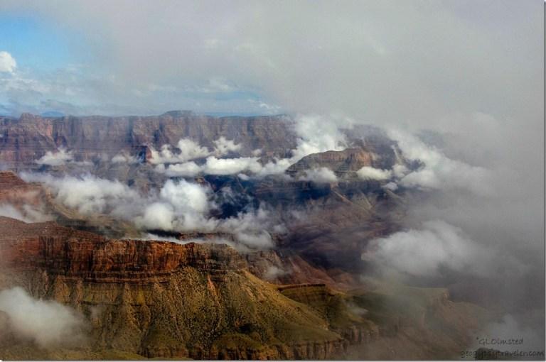 Inversion Walhalla overlook North Rim Grand Canyon National Park Arizona