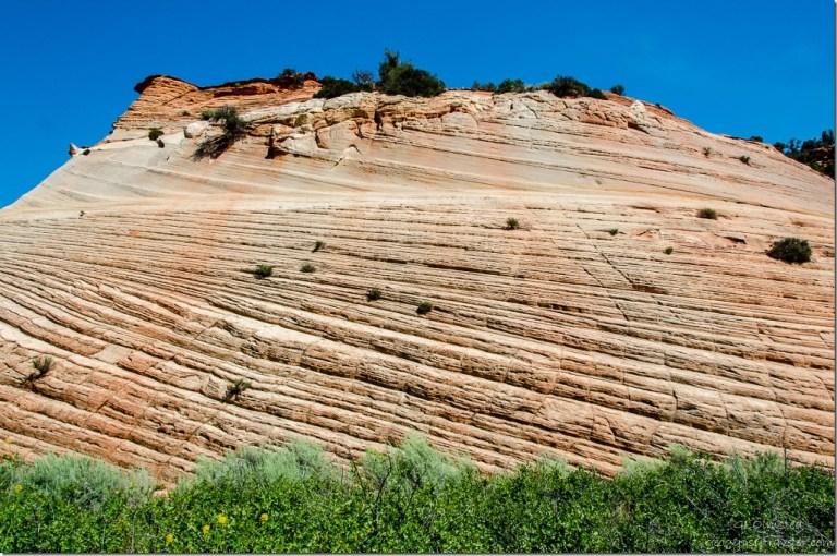 Navajo sandstone bluff Kanab Utah