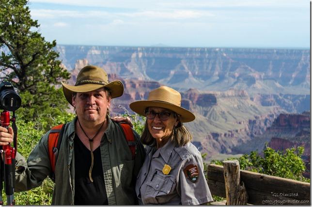 Shane & Ranger Gaelyn North Rim Grand Canyon National Park Arizona