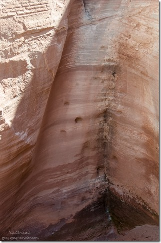 Hand & toe holes in spillway White House Road Grand Staircase-Escalante National Monument Utah