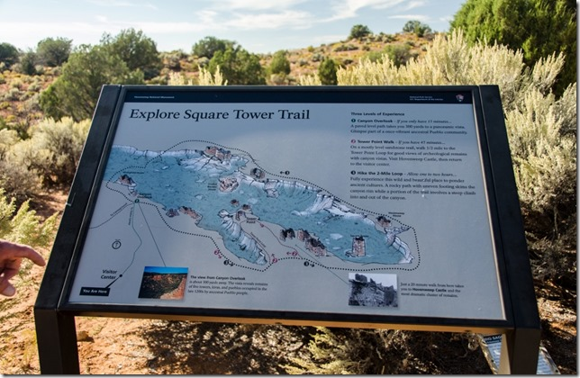 Map Square Tower trail Hovenweep National Monument Utah