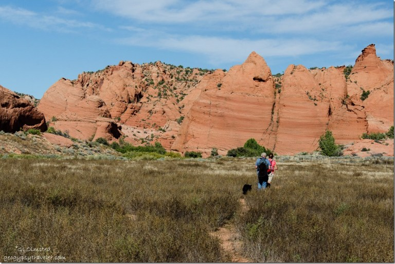 Sasha, Bill & Suzanne Upper Buckskin Paria Canyon-Vermilion Cliffs Wilderness Utah