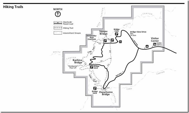 Natural Bridges National Monument map nps