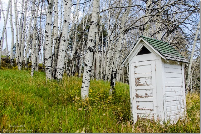 Outhouse Gooseberry Guard Station Manti-LaSal National Forest Utah