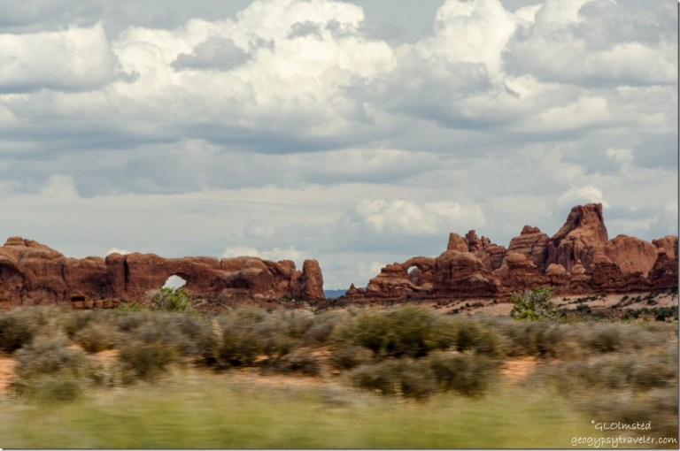 The Great Wall with arches Arches National Park Utah