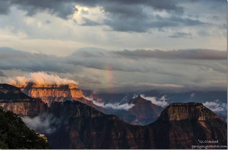 Rainbow & inversion from Lodge North Rim Grand Canyon National Park Arizona
