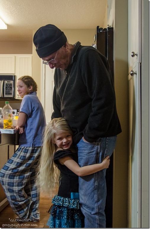 Amelya hugs Bill Spanish Fork Utah