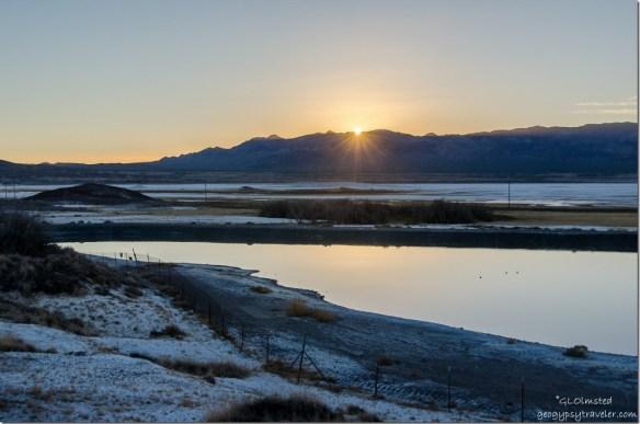 Sunset Tecopa hot springs campground Tecopa California