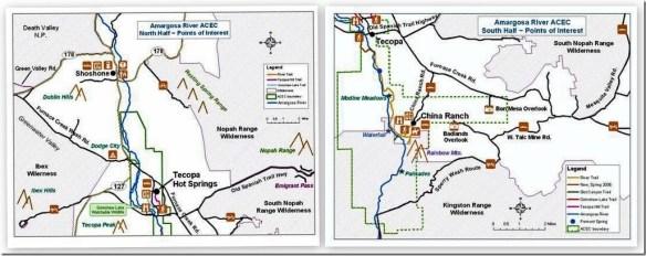 Amargosa River Natural Area North & South maps