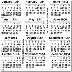 1954-calendar