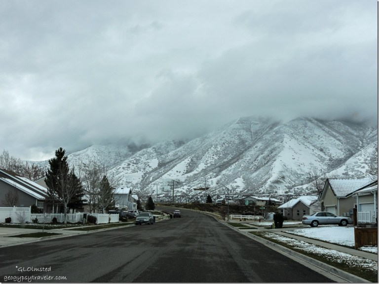 Snowy mountains Spanish Fork Utah