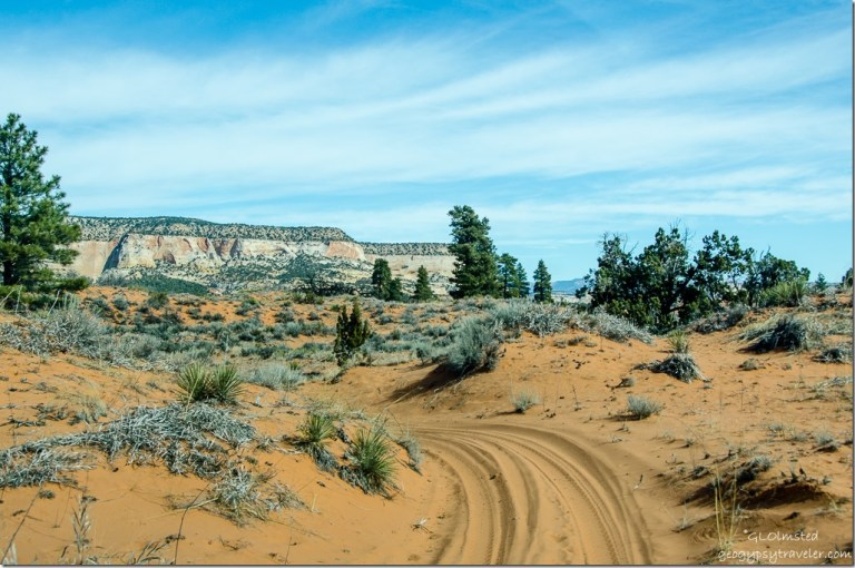 Sand dune ATV trail to Peekaboo Canyon Utah