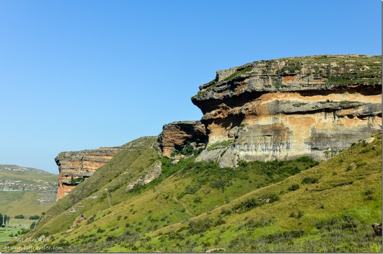 View from Echo Ravine trail Golden Gate Highlands National Park R712 Free State South Africa