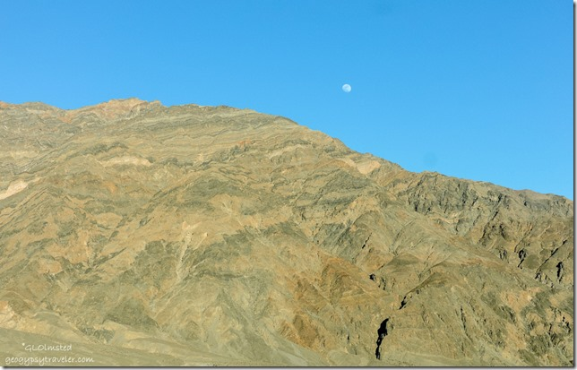Moon over Grapevine Mountains Death Valley National Park California