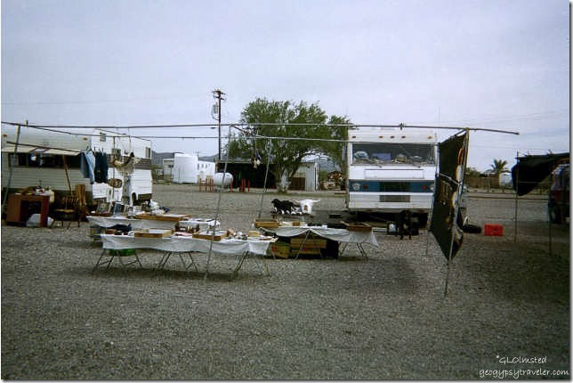 Set up at fleamarket Vicksburg Arizona