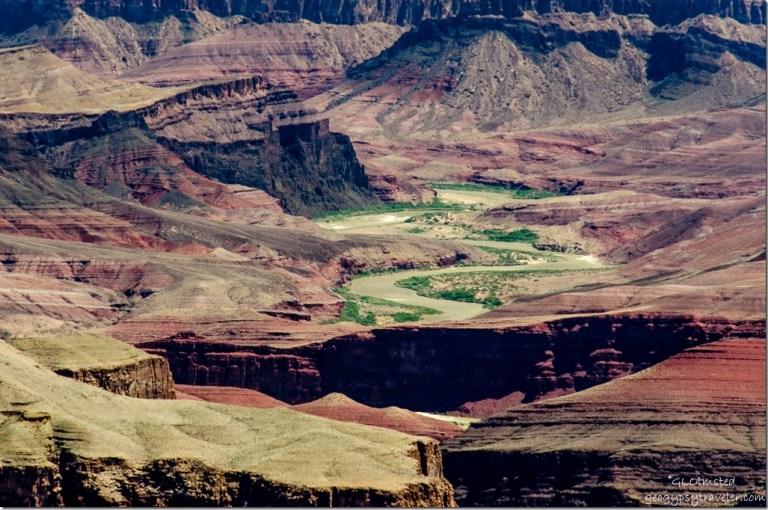 Colorado River from Grand View South Rim Grand Canyon National Park Arizona