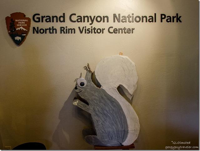 Kaibab squirrel pinata in Visitor Center North Rim Grand Canyon National Park Arizona