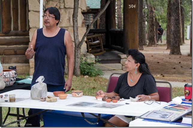 Eileen Yatsattie Zuni Pottery Heritage Days North Rim Grand Canyon National Park Arizona