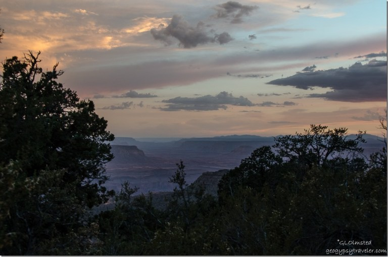 Sunset West canyon & Unkeret Mountains Crazy Jug Point Kaibab National Forest Arizona