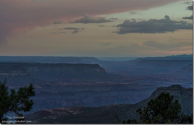 Sunset West canyon Crazy Jug Point Kaibab National Forest Arizona
