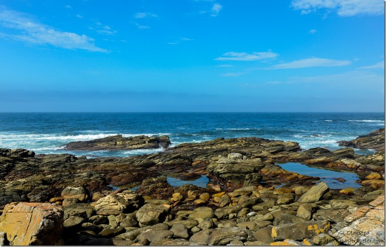 Rocky shoreline & Indian Ocean Waterfall trail Tsitsikamma National Park South Africa
