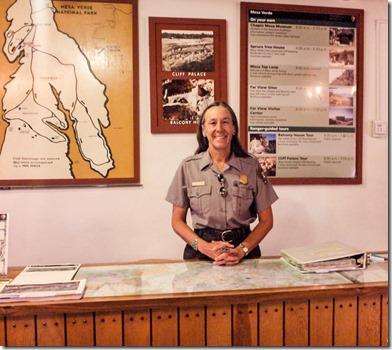 Gaelyn in Museum Mesa Verde National Park Colorado