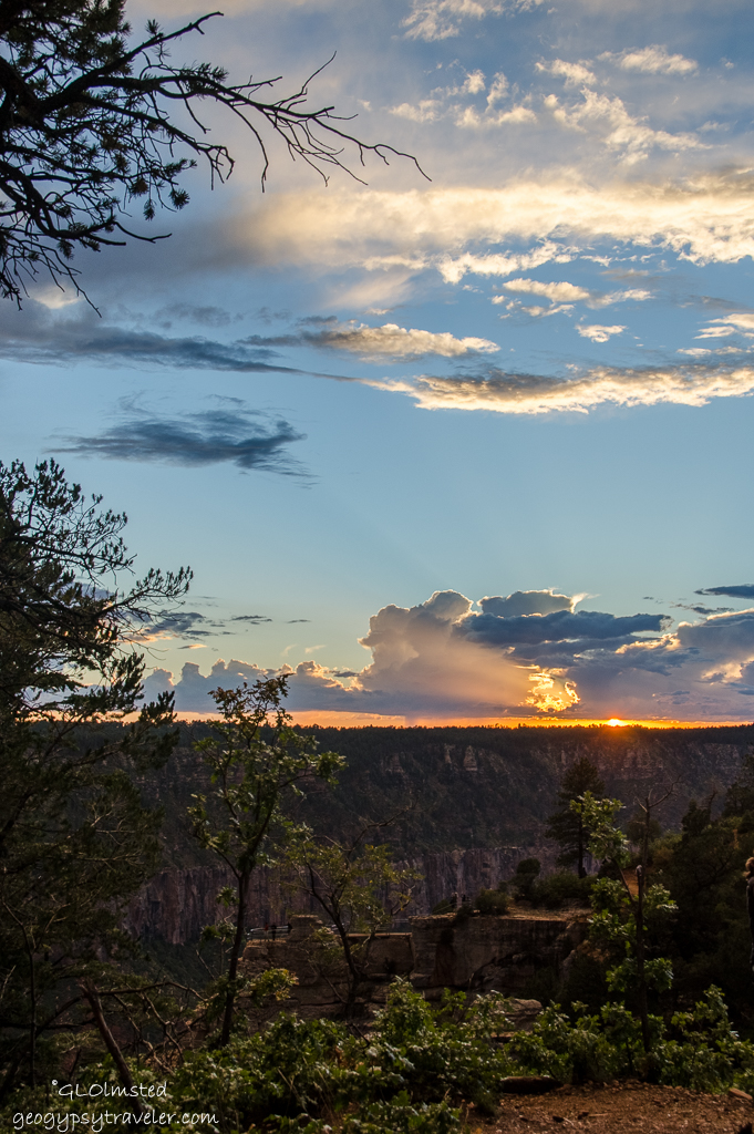 Sunset North Rim Grand Canyon National Park Arizona