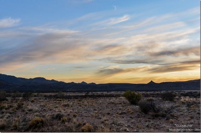 Sunset over Weaver Mountains near Kirkland Arizona