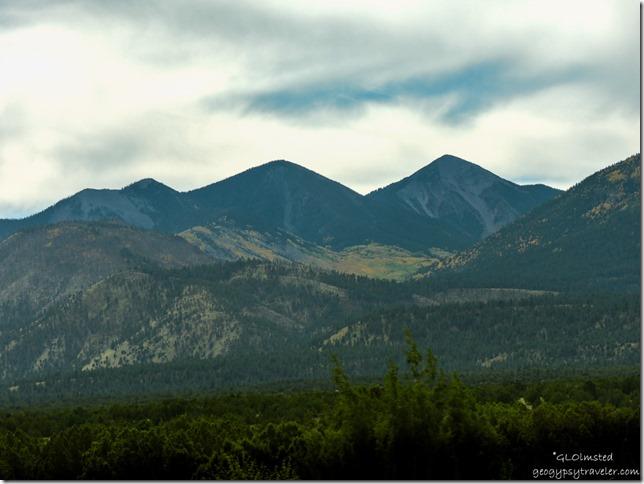 Fall colors on Humphreys Peak SR89 South Flagstaff Arizona