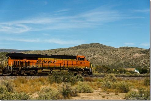 BNSF train engine Kirkland Arizona