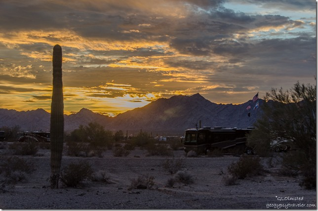 Sunset GCA gathering Quartzsite Arizona