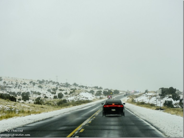 Snow accident SR89 North Arizona