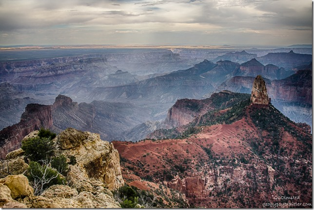 View Southeast & Mount Hayden Point Imperial North Rim Grand Canyon National Park Arizona