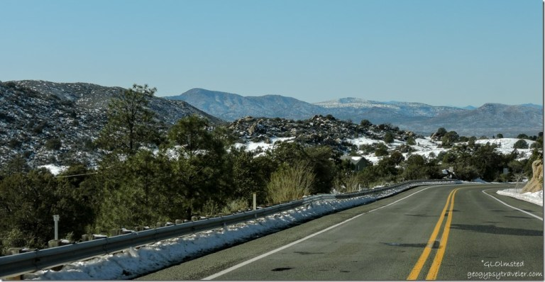 Snow Bradshaw Mountains Iron Springs Road Arizona